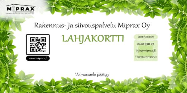 miprax lahjakorti